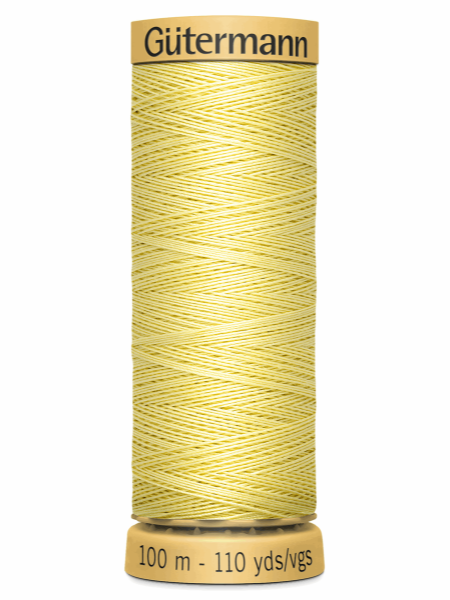Gutermann Cotton Thread Pale Yellow 349