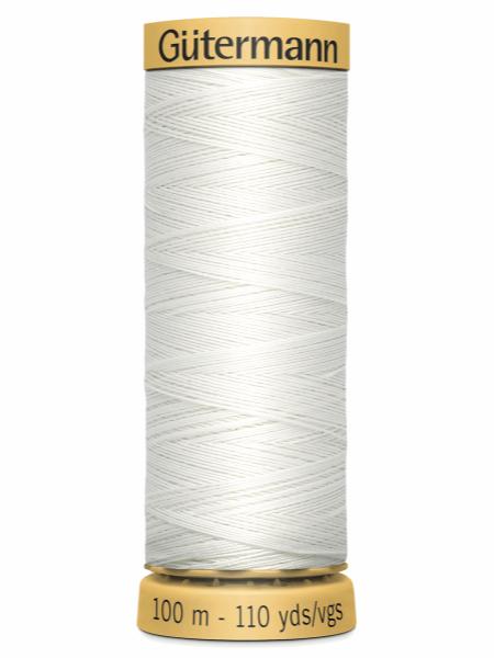 Gutermann Cotton Thread White 5709