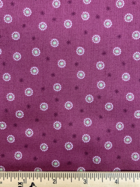 Star Seed Plum quilting fabric from Lewis and Irene