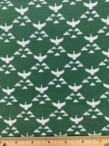 Fly North Green quilting fabric from True North by Sweet Bee Designs