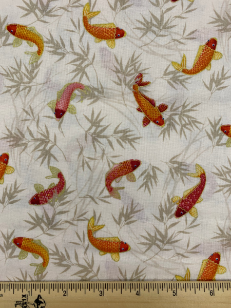 Koi Cream from the Michiko fabric collection by Makower