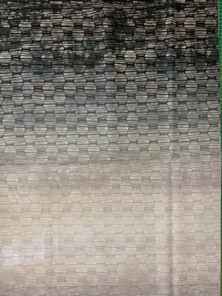 Ombre grey patterned quilting fabric