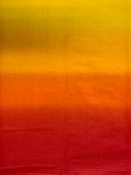 Ombre Orange quilting fabric