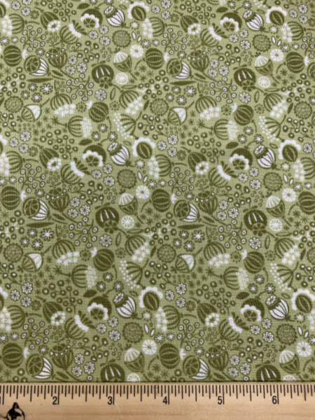 Sead Heads in green quilting fabric from Lewis and Irene