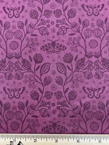 Winter Shadows in Plum quilting fabric from Lewis and Irene