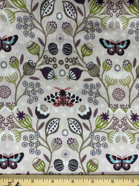 Taupe Moths quilting fabric from Lewis and Irene
