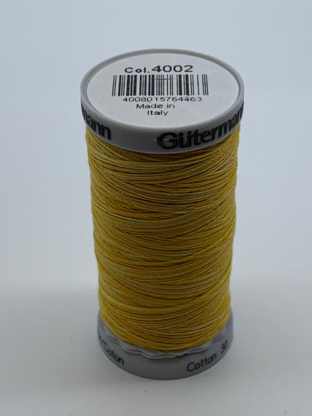 Gutermann Quilting Cotton Thread 4002 Shades of Yellow