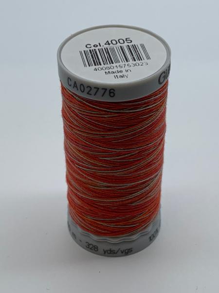 Gutermann Quilting Cotton Thread variegated 4005 Red, Orange, Grey