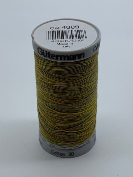 Gutermann Quilting Cotton Thread Variegated 4008 Shades of Yellow Brown Green