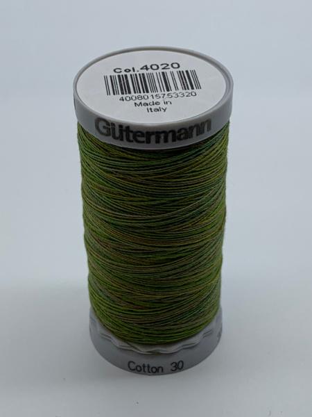 Gutermann Quilting Cotton Thread Variegated Green Brown Yellow