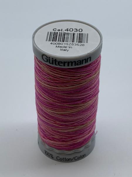 Gutermann Quilting Cotton Thread Variegated 4030 Shades of Pink