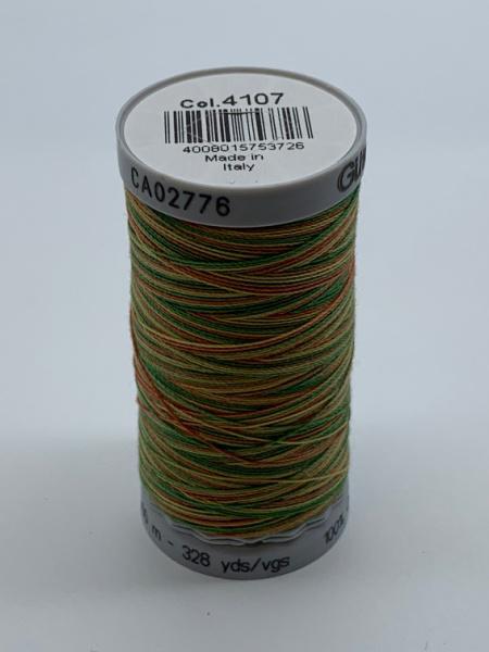Gutermann Quilting Cotton Thread Variegated 4107 Orange, Green and Yellow