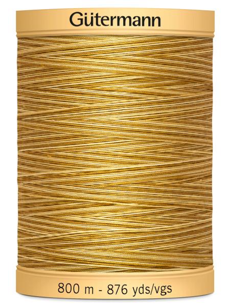 Gutermann Cotton Variegated Thread 9938 Yellow/Brown