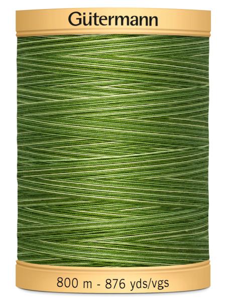 Gutermann Cotton Variegated 9994 Light Green/Dark Green