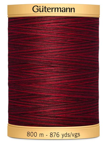 Gutermann Cotton Variegated Thread 9959 Maroon/Black