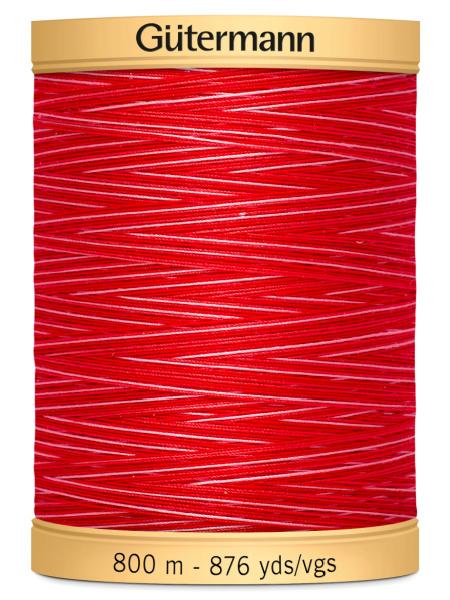 Gutermann Cotton Variegated Thread 9973 Red/Pink