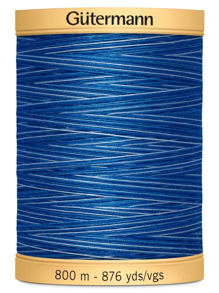 Gutermann Cotton Variegated Thread 9986 Blue/Dark Blue
