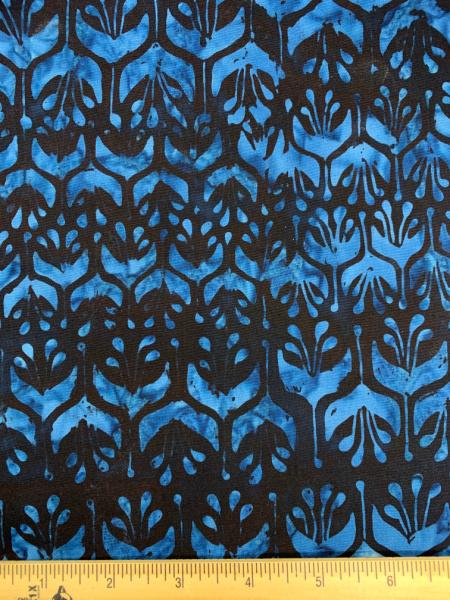 Anthology Diamond Batik in Blue Quilting Fabric