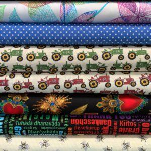 An Assortment Of Quilting Fabrics