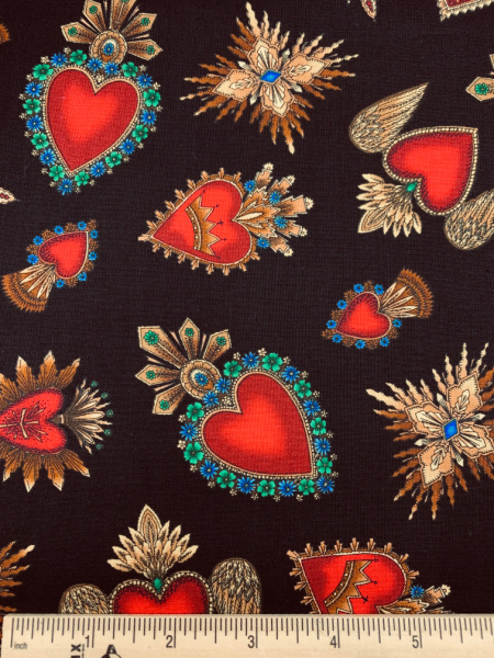 Sacred Hearts Quilting Fabric by Timeless Treasures