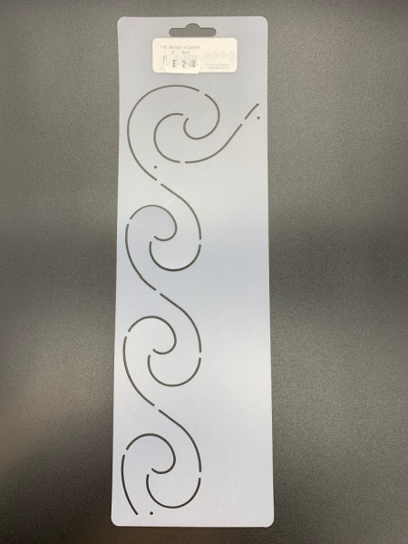Wave Border with Corner 119 5cm (2inch) Quilting Stencil