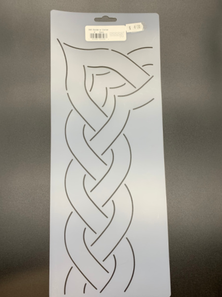 Cable Border with Corner 348 10cms (4inches) Quilting Stencil