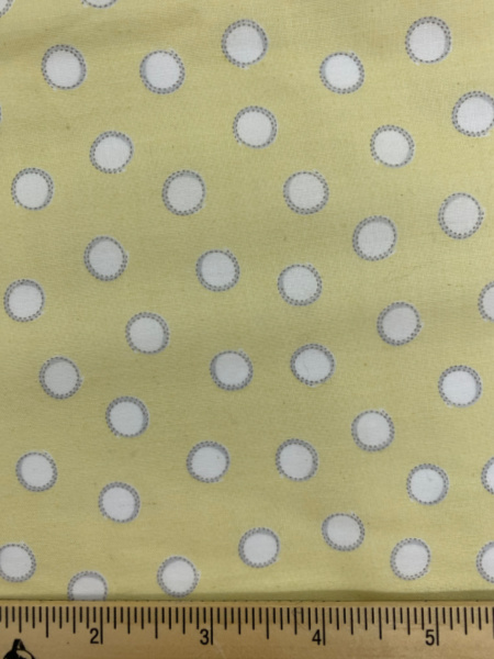 Bunny Tails in Yellow Cotton Quilting Fabric By Sam McBratney From Guess How Much I Love You For Clothworks