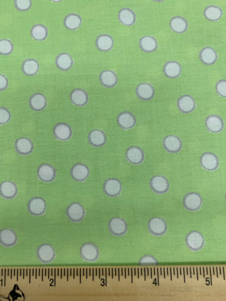Bunny Tails in Green Cotton Quilting Fabric By Sam McBratney From Guess How Much I Love You For Clothworks