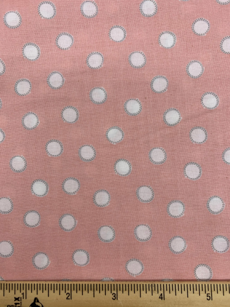 Bunny Tails in Pink Cotton Quilting Fabric By Sam McBratney From Guess How Much I Love You For Clothworks