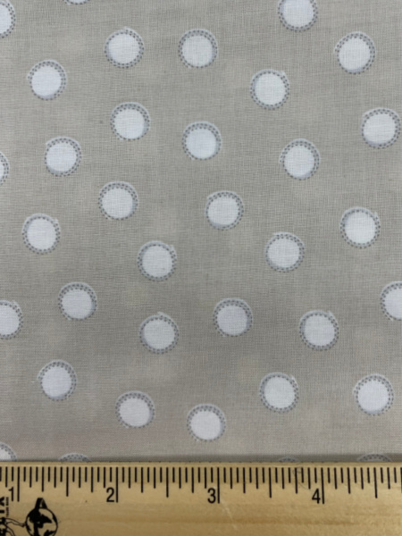 Bunny Tails in Taupe Cotton Quilting Fabric By Sam McBratney From Guess How Much I Love You For Clothworks