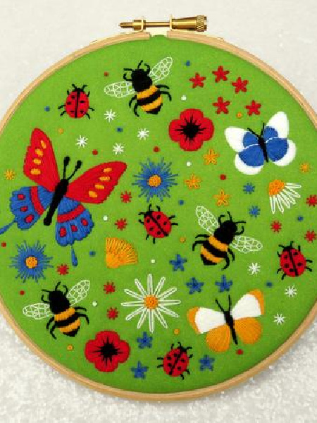 Bees and Butterflies Embroidery Pack from Oh Sew Bootiful