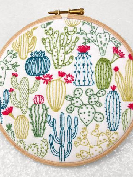 Cactus Embroidery Pack from Oh Sew Bootiful