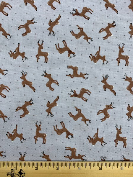 Deer on Grey from Small Things Country Creatures from Lewis and Irene