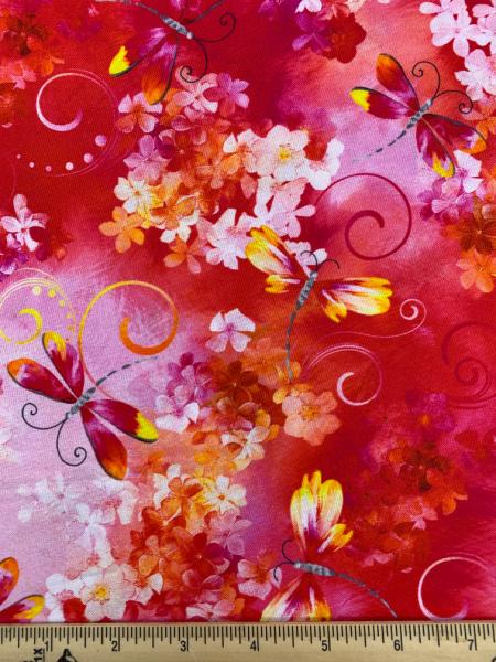 Dragonfly Garden from Blooming Beauty by Greta Lynn for Kanvas Studio Benartex