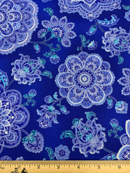 Dutchess Main Blue Quilting Fabric by Chong-A Hwang from the Dutchess Collection for Timeless Treasures