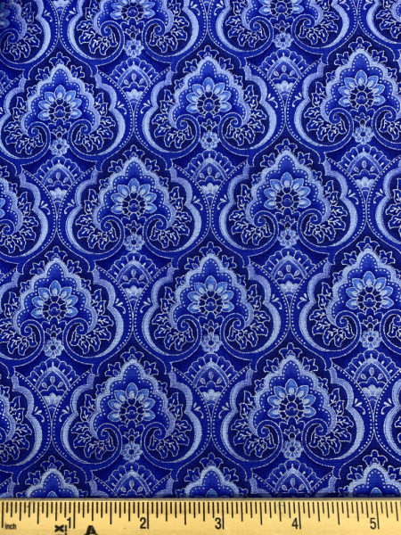 Nettipattam Blue from the Dutchess collection quilting fabric