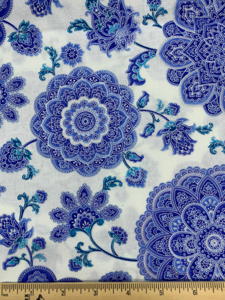 Dutchess Main White Quilting Fabric by Chong-A Hwang from the Dutchess Collection for Timeless Treasures