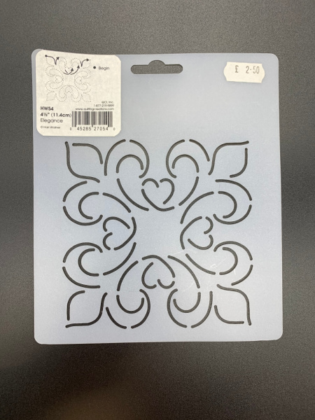 Elegance 11.4cms (4.5inches) Square Quilting Stencil