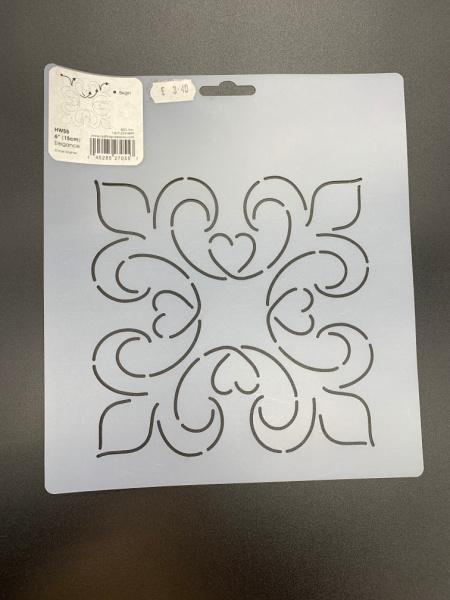 Elegance HW55 15cm (6 inch) Square Quilting Stencil
