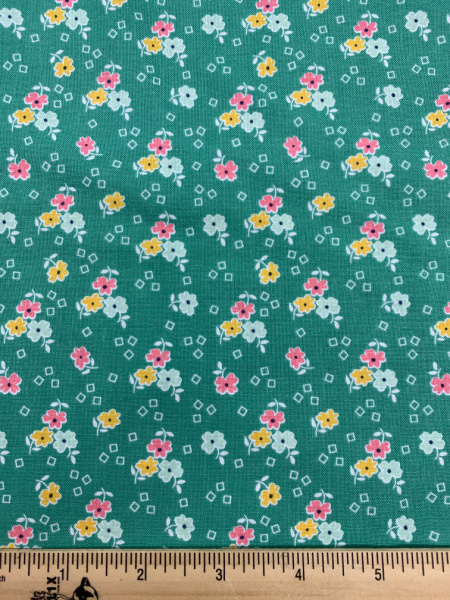 Vivid Floral Quilting Fabric By Lori Holt Of Bee In My Bonnet For Riley Blake