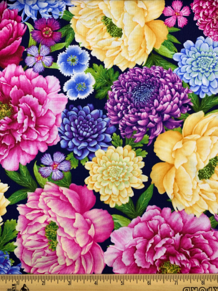 Floral Quilting Fabric From Gossamer Garden by Color Principle by Henry Glass