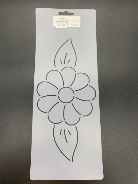 Flower 11.4cms x 24cms (4.5inches x 9.5inches) Quilting Stencil