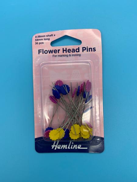 Flower Head Pins 54mm Long from Hemline