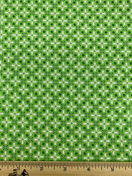 Green Vintage Quilting Fabric By Lori Holt Of Bee In My Bonnet For Riley Blake