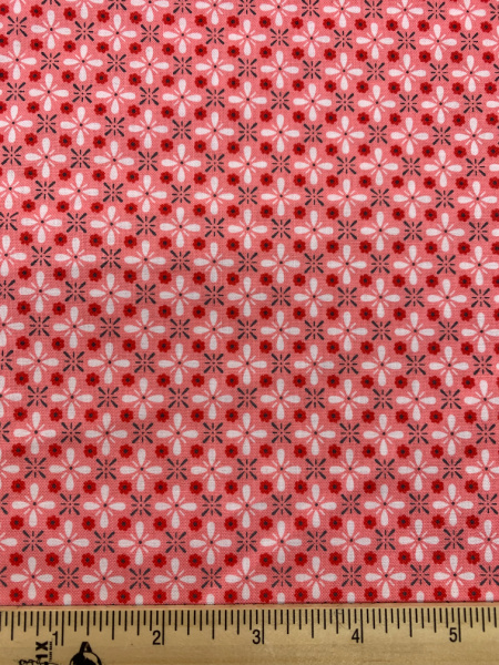 Coral Vintage Quilting Fabric By Lori Holt Of Bee In My Bonnet For Riley Blake