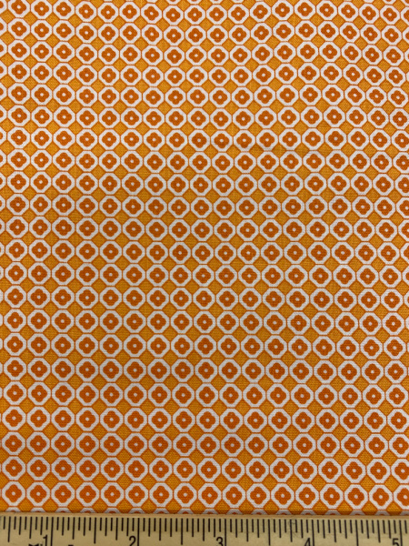 Orange Flower Quilting Fabric By Lori Holt Of Bee In My Bonnet For Riley Blake