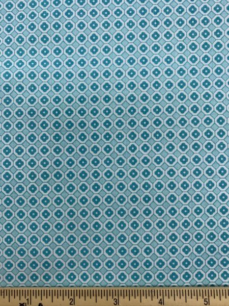 Aqua Flower Quilting Fabric By Lori Holt Of Bee In My Bonnet For Riley Blake