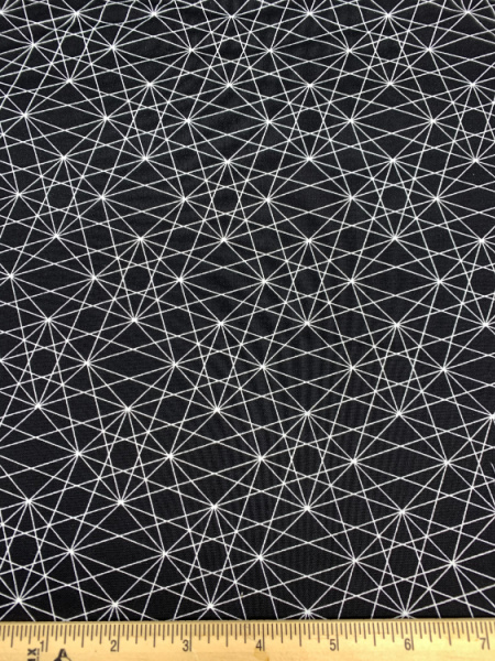 Frequency in Coal from Stealth by Libbs Elliott quilting fabric