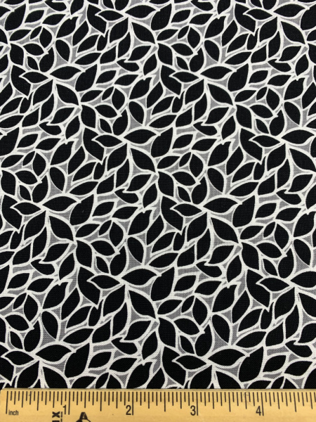 Leaves Grey Quilting Fabric by Color Pop Studio for Blank Quilting Corp