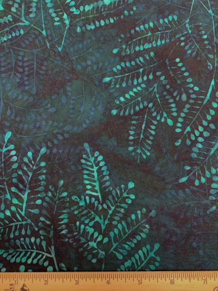 Ferns in Mallard Quilting Fabric Batik by Hoffmann